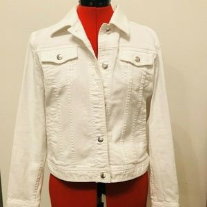 Ladies Large White Chaps Denim Jacket -